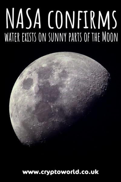 NASA confirms water on sunny parts of the Moon