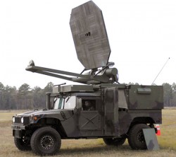 Active Denial System mounted on Humvee