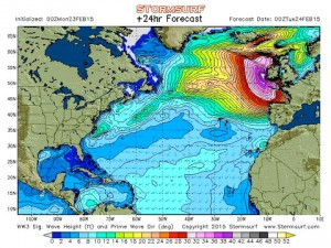 Biggest waves in the world will hit Cornwall tomorrow.
