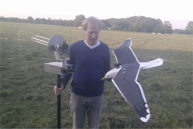 Radio controlled seagull which has been revealed to be the UFO seen over Summerleaze Beach