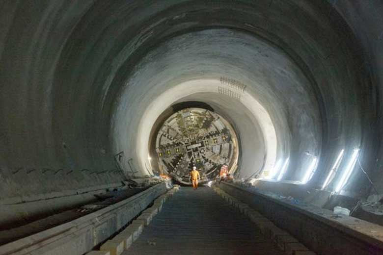 A drone's view of the Crossrail tunnels
