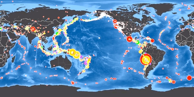 Global Earthquakes: January - April 2014