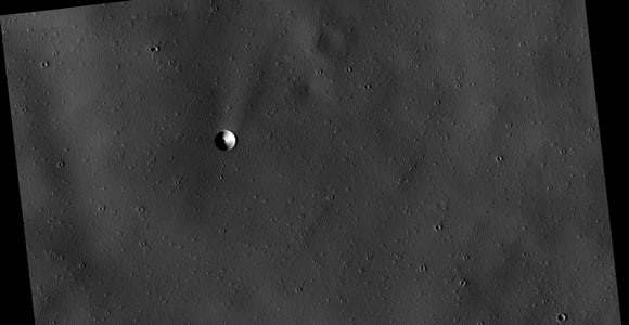 Crater with Dark Center at Pavonis Mons