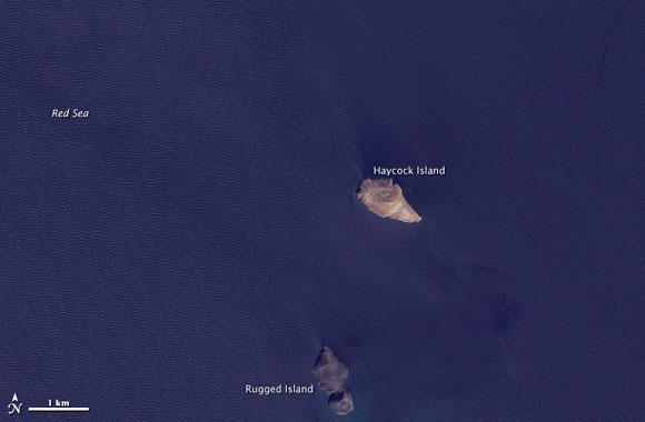 Zubair archipelago before the new island was formed