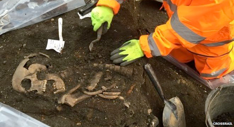 The burial site was used from 1569 to at least 1738