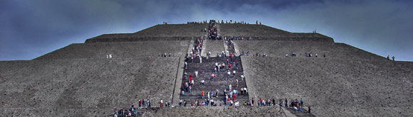 The Pyramid of the Sun at Teotihuacan. near Mexico City