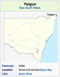 Yelgun Map